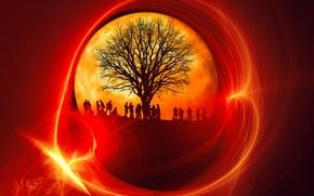 Картинка природа, люди, дерево
