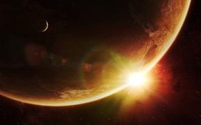 Обои солнце, звезды, Планеты