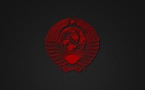 Картинка минимализм, СССР, герб