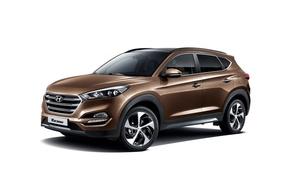 Картинка белый фон, Hyundai, кроссовер, Tucson, хундай, тусон