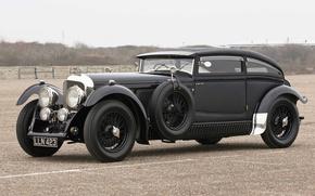 Картинка Bentley, 1931, 1930, Speed 6, Front Side, Bentley Speed Six, Speed Six, Blue Train, Blue ...