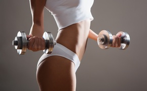 Картинка fitness, dumbbells, sportswear, metal
