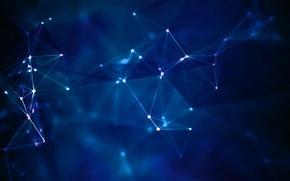 Картинка свет, синий, абстракция, паутина, интернет