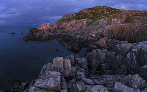 Картинка waves, sea, ocean, rocks, lighthouse