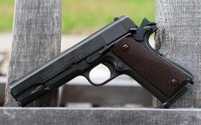 Картинка пистолет, оружие, Colt, M1911A1, самозарядный