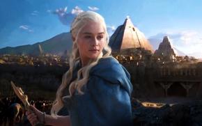 Обои Game of Thrones, Игра Престолов, Эмилия Кларк, Дейенерис Таргариен, Daenerys Targaryen, Emilia Clarke