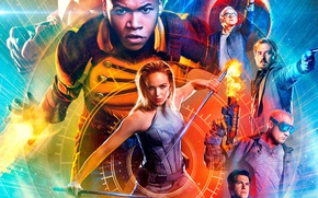 Картинка girl, gun, pistol, weapon, man, hero, yuusha, Season 2, tv series, Legends Of Tomorrow
