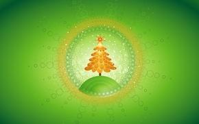 Обои елка, новый год, зеленый