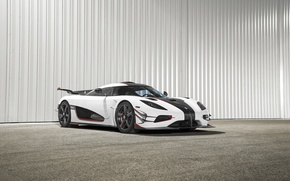 Картинка car, Koenigsegg, white, One:1, giper