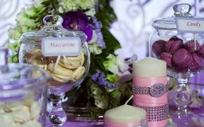 Картинка цветы, свадьба, декор, macaron