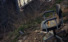 Обои мусор, grange, стул