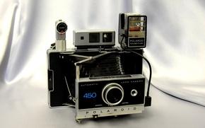 Картинка фон, вспышка, видоискатель, автоматическая камера, Polaroid 450