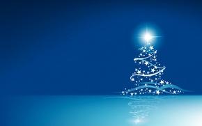 Картинка ленты, блеск, елка, звездочки