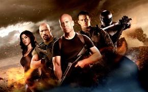 Картинка wallpaper, Bruce Willis, Snake, wallpapers, Eyes, Dwayne Johnson, Roadblock, Lady Jaye, G.I. Joe: Retaliation, Adrianne ...