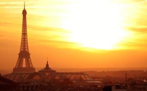 Картинка город, эйфелева башня, париж, Paris