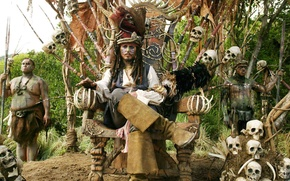 Обои пираты карибского моря, джони депп, pirates of the caribbean, johny depp, джек воробоей