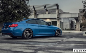 Картинка BMW, Blue, Vorsteiner, F32, 103, Rear, 2015, 435i, V-FF, Estoril
