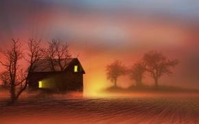 Картинка природа, дом, фон