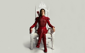 Обои Girl, Red, Games, Beautiful, Warrior, with, The, Wallpaper, Year, EXCLUSIVE, Jennifer Lawrence, Walt Disney Pictures, ...