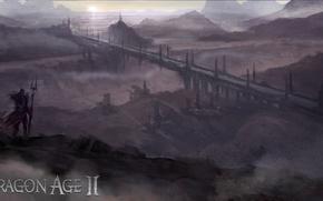 Обои Dragon Age 2, земли, мост, Conceptart