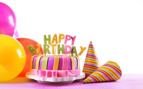 Картинка торт, Happy, свечи, cake, День Рождения, sweet, decoration, Birthday