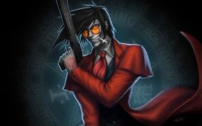 Обои hellsing, anime, vampire, alucard