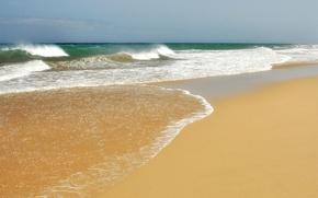 Картинка песок, волны, прибой, соре