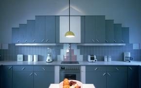 Обои интерьер, кухня, квартира, дизайн