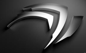 Обои металл, nvidia, логотип