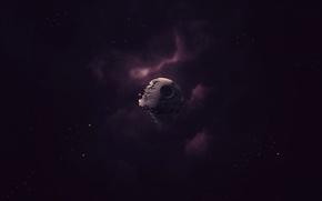 Обои star wars, звездные войны, звезда смерти, космос, звезды, туманность