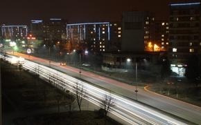 Картинка Россия, ночной город, ночные города, заставка на комп, обои владикавказ, Владикавказ ночью, темная тема, Владикавказ ...