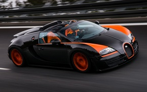 Обои bugatti, veyron, grand sport, roadster, vitesse, wrc edition