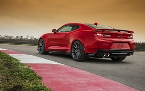 Картинка красный, Chevrolet, Camaro, шевроле, камаро, ZL1