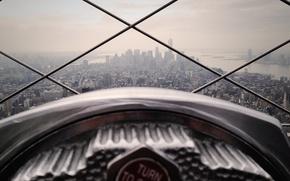Картинка USA, United States, skyline, design, New York, Manhattan, NYC, New York City, bokeh, buildings, horizon, …