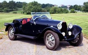 Картинка ретро, Бугатти, Bugatti, передок, 1930, Type 43, Sports Four Seater