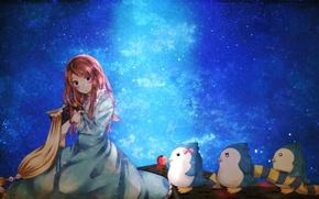 Картинка волосы, девочка, Mawaru Penguin Drum