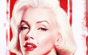 Картинка взгляд, лицо, женщина, звезда, актриса, красавица, art, marilyn monroe
