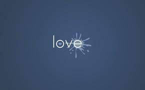 Картинка Love, Минимализм, Любовь, Сердце, Краска, Фон, Надпись, Клякса, Слово