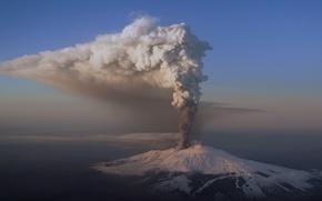 Картинка природа, пепел, гора, вулкан