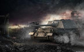 Картинка Германия, танк, танки, Germany, WoT, Мир танков, tank, World of Tanks, Ferdinand, tanks, Wargaming.Net, BigWorld