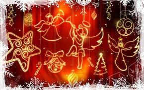 Картинка украшения, красный, вектор, Рождество