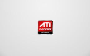 Картинка минимализм, логотип, ATI, Radeon