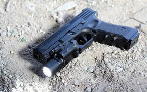 Картинка пистолет, оружие, Glock 17, австрийский, самозарядный