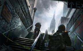 Картинка город, здания, солдаты, нью йорк, Tom Clancy's The Division