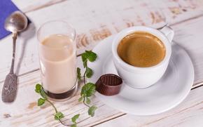 Картинка кофе, еда, молоко, чашка, конфета