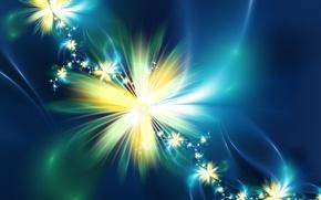 Картинка цветок, блеск, Абстракция