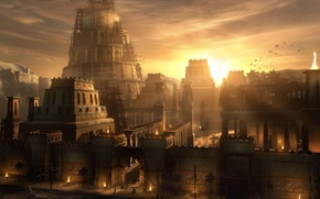 Обои Причал, Башня, ВАВИЛОН