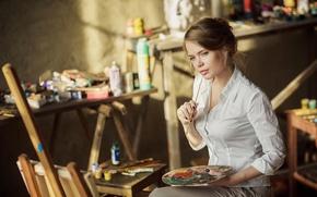 Картинка краски, художник, творчество, кисть, Ксения Паленова