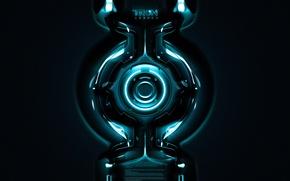 Картинка фильм, круг, неон, трон, tron