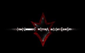 Обои Modern Metal, In Flames, Melodic Death Metal, черный фон, надпись